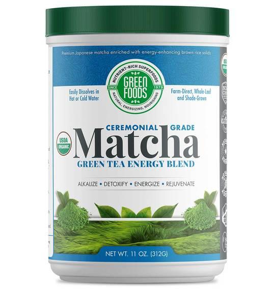 Bio Matcha Green Tea 312 g (sproszkowana zielona herbata) - Green Foods USA