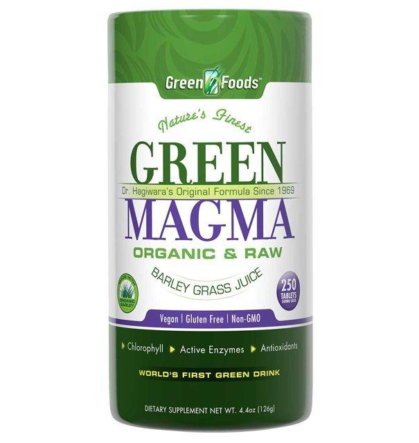 Green Magma 250 TABLETEK (Młody jęczmień) - Green Foods USA