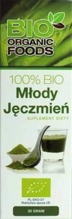 Młody Jęczmień BIO 30g (sproszkowany sok) - Bio Organic Foods